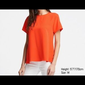 UNIQLO | Drape short sleeve blouse
